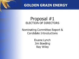 WELCOME TO GOLDEN GRAIN ENERGY 2016 ANNUAL MEETING. - ppt download