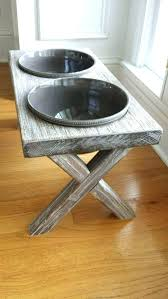raised dog bowl feeder farm table elevated bowls diy stand water daddy by day b pet bowl stand diy