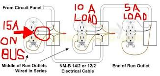 wiring receptacles in series diagram the wiring diagram wire outlets in series or parallel nilza wiring diagram