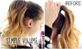 Quick Cute Ponytail Hairstyles Volumized Ponytail Hairstyle Quick Easy Youtube