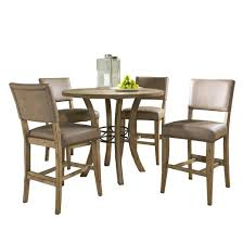 Charleston Parsons Stool and Counter Height Dining Table WoodBrown 5  Piece Set  Hillsdale Furniture