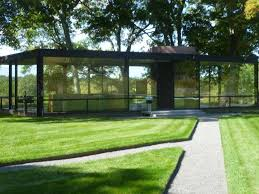 an exterior view of philip johnson s glass house taken during the recent community day new