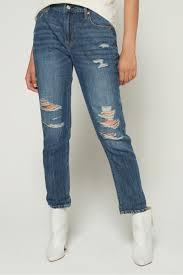 Wear Light Denim Gap Shop Navy Gap Wearlight Mid Rise Best Girlfriend Jeans For Women Nisnass Uae