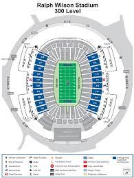 Buffalo Bills Seating Chart Ralph Wilson Stadium Detailed