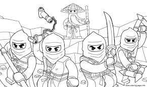 Small Picture Lego Ninjago Coloring Pages Printable With NINJAGO Free For