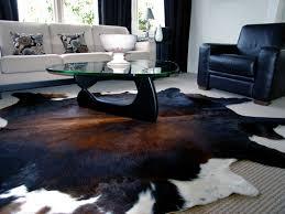 the origin of the cowhide rug