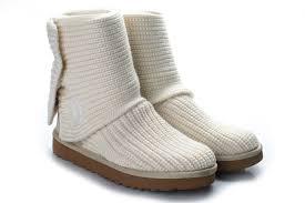 Cheap Women UGG Classic Cardy Boots White 5819
