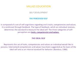 values education personhood development lecture  values education self development the perceived