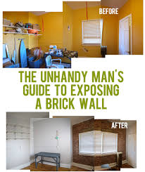 how to expose a brick wall