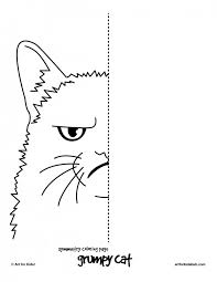 Small Picture 6 Free Coloring Pages Cat Symmetry Art for Kids Hub CC