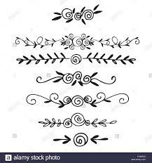 Hand Drawn Vector Dividers Lines Borders And Laurels Set