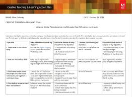 Creative Teaching & Learning Action Plan - Template And Sample Plan ...