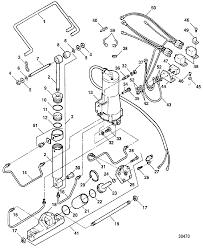 Trim tilt assembly f5h196 for force trim and tilt models 85 thru 150 hp