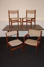 vine danish modern teak erik buch set of 4 dining chairs mid century