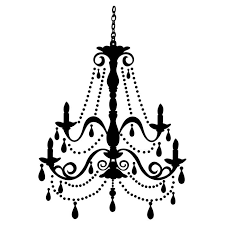 chandelier clipart wall decal 1