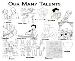 Small Picture Our Many Talents Coloring Sheet