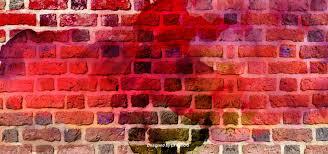red brick wall graffiti background