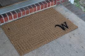 five minute monogrammed doormat