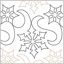 104 best Quilting -- pantographs images on Pinterest | Quilt ... & Snow Winds - 12