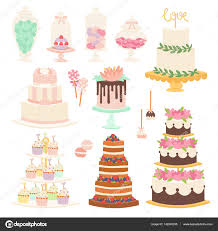 Wedding Cake Pie Cartoon Style Isolated Vector Illustration