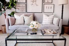 minimal coffee table decor