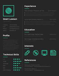 Visual Resume Templates 24 FREE Tools to Create Outstanding Visual Resume Geek Flare 1