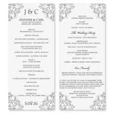 Templates For Wedding Programs 8 Best Wedding Program Templates Images Wedding Programs