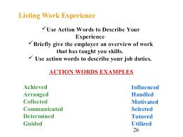 Words To Use In Cover Letters Cover Letter And Resume Writing For High School Students