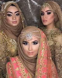 love the looks so gorgeous from hijaab stylist makeup by on the model on the right and far left model makeup by middle model by x beautiful