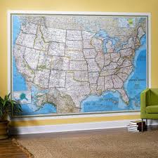 printable united states classic mural map national geographic wall world huge vintage size state maps