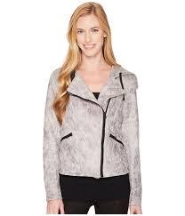 blanc noir hooded moto jacket vintage grey 1 women s