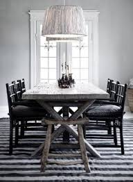 stylish rustic dining table