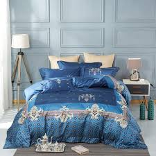 egyptian cotton palace silk embroidered luxury bedding sets king queen size bed set bed spread duvet cover pillowcases brown duvet cover bedding comforters