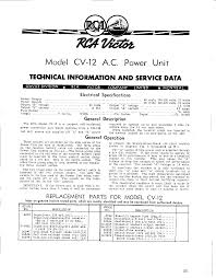 powering your antique battery radio rca cv 12 description
