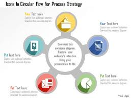 Strategy Presentation Business Diagram Icons In Circular Flow For Process Strategy