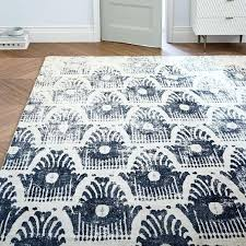 ikat rug the wonderful diamond area blue cream