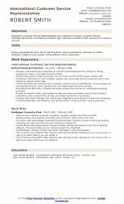 skills of customer service representative international customer service representative resume samples