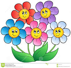 picture of cartoon flowers. Perfect Cartoon Five Cartoon Flowers For Picture Of Cartoon Flowers E