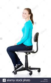 student sitting in chair. Modren Sitting Young Happy Student Woman Or Businesswoman Sitting On A Wheel Chair  Isolated Over White To Student Sitting In Chair H