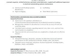 Carpenter Resume Example Carpenter Sample Lead Carpenter Job ...