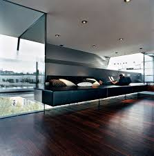 penthouse furniture. relaxation zone covered in black leather sofa vienna penthouse furniture s