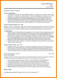 7 Project Manager Resume Sample Letter Adress