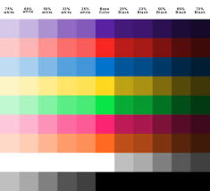 Automotive Paint Color Mixing Chart Nice Color Chart For Plasti Dip Color Mixing Chart Color
