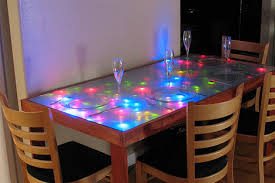 cool dining room table. Simple Room Unusual Dining Room Furniture Led Lighted Table In Cool Dining Room Table