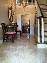 tile flooring ideas. Wood Chevron Entryway Transitioning Into Tile Kitchen Floor Ideas On Brown Flooring