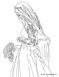 Coloring: Wedding Dresses Coloring Pages