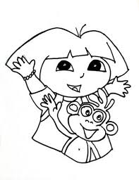 Small Picture Dora the Explorer Coloring Pages 2 Coloring Kids