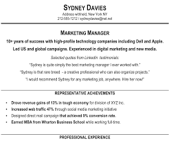 Marketing Resume Summary Statement Examples Examples Of Resumes