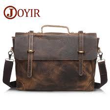 joyir designer handbags high quality genuine leather mens briefcase luxury laptop bag tote bag shoulder cross bag bolsas6001