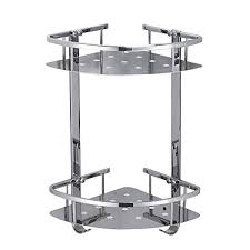 besy shower corner caddy bathroom shelf floating no drilling with glue or wall mounted with s heavy duty and sus304 stainless steel 2 tiers storage